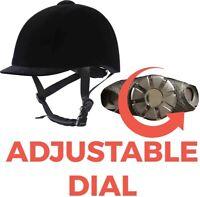 JHR Adjustable VG1 Horse Riding Hat/Helmet 49-60cm BLACK VELVET