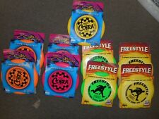 Lot Of 9 Frisbees Cobra 155 Grams & Freestyle 175 Grams Assorted Colors