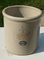 Red Wing 4 Gallon Stoneware Crock Large wing