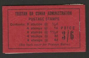 Tristan da Cunha 1958 3/6d Complete booklet SB2.