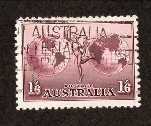 Australia--#C4 Used--1934 Mercury & Hemispheres