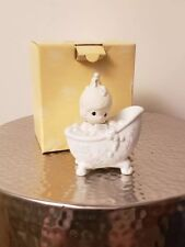 Precious Moments He Cleansed My Soul Vintage 1985 Enesco Baby In Bath tub 100277