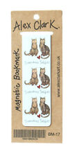 Alex Clark Tremedous Tabbies Cat Magnetic Bookmark Page Finder Bookmarks Gift
