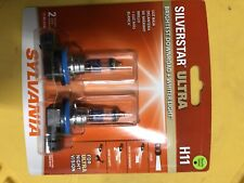 NEW Sylvania Silverstar ULTRA H11 Pair Set High Performance Headlight 2 Bulbs
