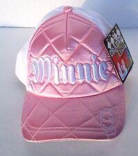 DISNEY PARKS PINK & WHITE MINNIE MOUSE CAP GRAPHIC EDGE BASEBALL HAT