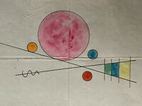 Wassily Kandinsky Rare Original Signed Watercolour Painting