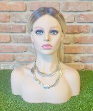 Women's Fashion Sliver Leaf Jewelry Statement Necklace Set