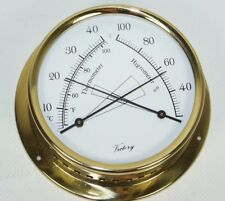 "BA984 Victory ""Regatta"" Thermo/Hygrometer 4"" Bronze Made in Germany 135-1104"