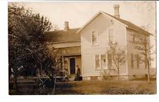 CYKO 1904-1920s RPPC real photo old man long beard boy house homestead family