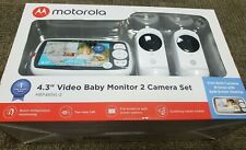 "NEW Motorola MBP483XL-2 4.3"" Video Baby Monitor Twin Set"