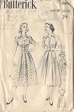 "1950s Vintage Sewing Pattern DRESS B38"" (R78)"