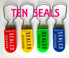 SECURITY SEALS, LARGE-SHACKLE, PADLOCK-STYLE, HIGH-SECURITY (TEN PIECE PRICING)