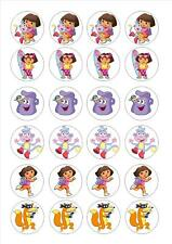 24 Edible cake toppers decorations dora the explorer