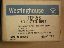 Westinghouse #177C469G06 Solid State Timer .1 to 30 Seconds Tof-56 New! in Box