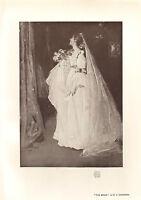 1905 Victoriano Studio Estampado ~ The Bride Por D. Y.Cameron