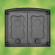 Porte de four en fonte - 2-flügelig pour à pizza,Poêle à bois,cheminée NEUF