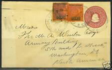 BRITISH GUIANA 1906 GEORGETOWN TO WASHINGTON POSTAL COV