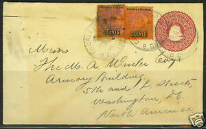 BRITISH GUIANA 1906 GEORGETOWN TO WASHINGTON POSTAL COV