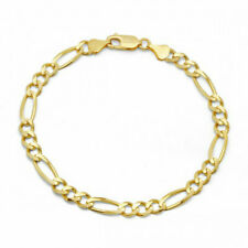 Figaro-Link Bracelet Anklet 18K Gold Plated Gold