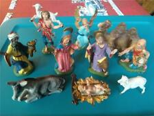 Vintage~Lot of 10 Fontanini Christmas Nativity Figures~ Italy Most Spider Mark