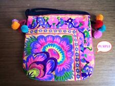 Lovely shoulder Bag Embroidery Design Asian Tribe Festival pochette pouch Purple