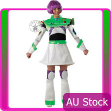 Ladies Disney Buzz Lightyear Costume With Wig Fancy Dress Toy Story Delux Outfit