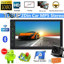 1080P HD 2DIN Android Car Stereo Radio Touch Screen GPS Navi WiFi AM Bluetooth