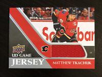 Matthew Tkachuk 2020-21 Upper Deck UD Game Jersey #GJ-MT  Calgary Flames