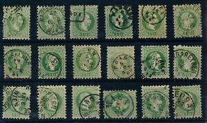 ÖSTERREICH 1867 18MARKEN! 3Kr grün, Schöne farbe/FARBVARIANTE! Interessant!