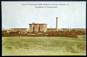 1907-15 View of National Cash Register Factory, Airplane, Dayton, Ohio
