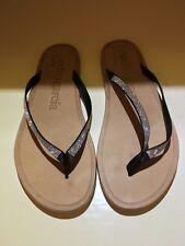 Preowned Pedro Garcia  Black Satin Rhinestones Sandal Size 40