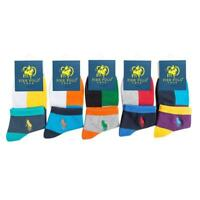 1 Pair Mens Pier Polo sport Style Crew Quarter Combed Cotton Ankle Socks Fast