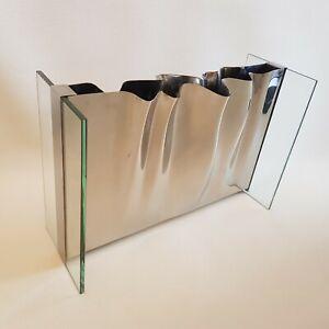 Vase design verre et métal