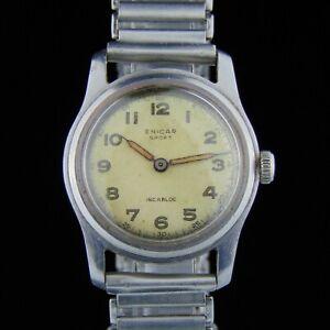 Enicar Sport Military WW2 - 1940-1949 - Steel Bracelet - Vintage Watch