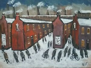 """Original Northern Art Painting """"Shifts End"""""""