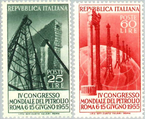 EBS Italy 1955 - World Petroleum Congress Rome - Unificato 779-780 MNH**