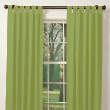 Pair of 100%  Cotton ALOE GREEN Tab Top Curtains 110 to 150cm Wide x 213cm Drop