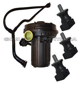 Secondary Smog Air Pump Emission Control+HOSE+Rubber Mount for BMW E60 E64 SET 5