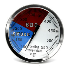 """3 1/8"""" 550F (1-pack) Grill and Smoker Thermometer, Heat Indicator, Temp Gauge"""