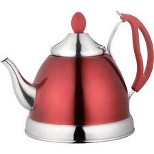 1.5L STAINLESS STEEL LIGHTWEIGHT TEA POT WHISTLING KETTLE CORDLESS TEAPOT NEW