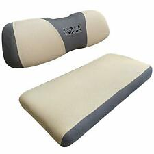 10L0L Golf Cart Seat Cover Mesh Bench Fit Club Car Precedent DS Yamaha (Beige)