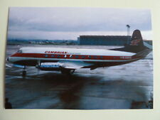 Cambrian Airways, Vickers Viscount G-AMON at Glasgow Airport, 1969, new postcard
