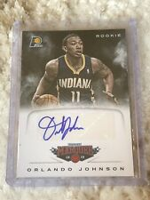 2012-13 Panini Marquee Orlando Johnson Rookie Auto Pacers Mint