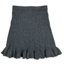 New NWT Designer Womens Magaschoni Tweed Skirt 10 Black Brown Lined Wool Office