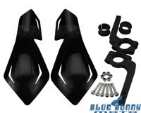Black Plastic 7/8'' Motorcycle Handguards Hand Guards For Honda Suzuki Polaris