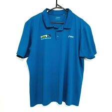 Asics Gold Coast Triathlon Mens Shirt Size 2XL Blue Short Sleeve Collared Polo