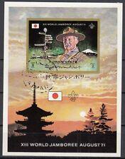 Ajman Block 306 gestempelt 13. Weltpfadfindertreffen in Asagiri Heights in Japan