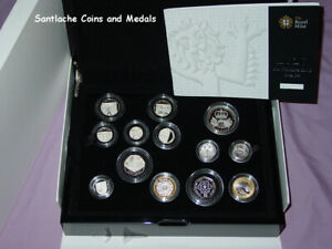 2010 ROYAL MINT PROOF SILVER PROOF COIN COLLECTION IN CASE - Full Packaging