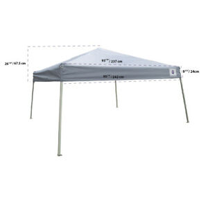 Pop up Canopy Tent Replacement TOP ONLY 10x10 / 8x8 Fits Slant Leg Frame Grey