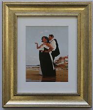 L'uomo mancante da Jack Vettriano incorniciato & montato Art Print PICTURE GOLD